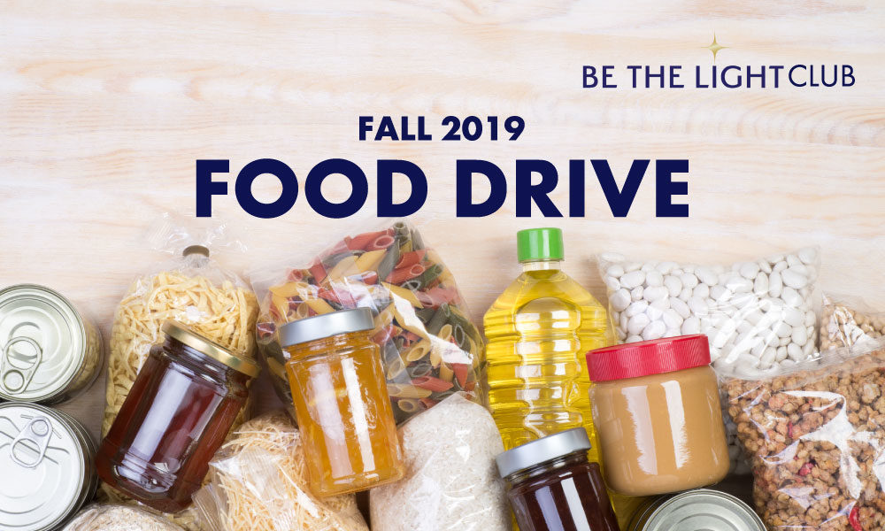 BE THE LIGHT Clubs – Food Drive